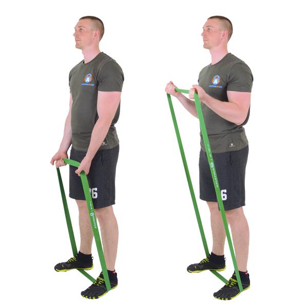 домашняя тренировка с фитнес резинкой