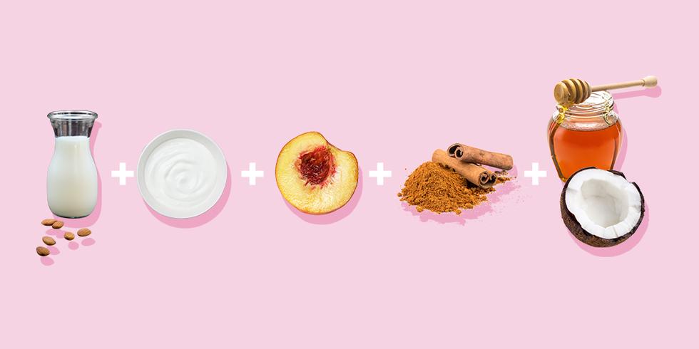 Антивозрастная маска с йогуртом и персиком