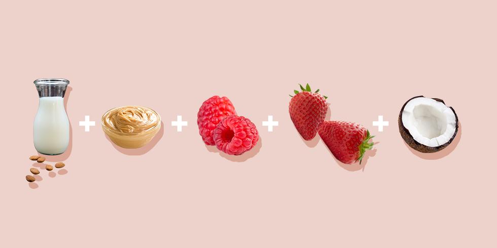 Увлажняющая антивозрастная маска смузи с арахисовым маслом и ягодами