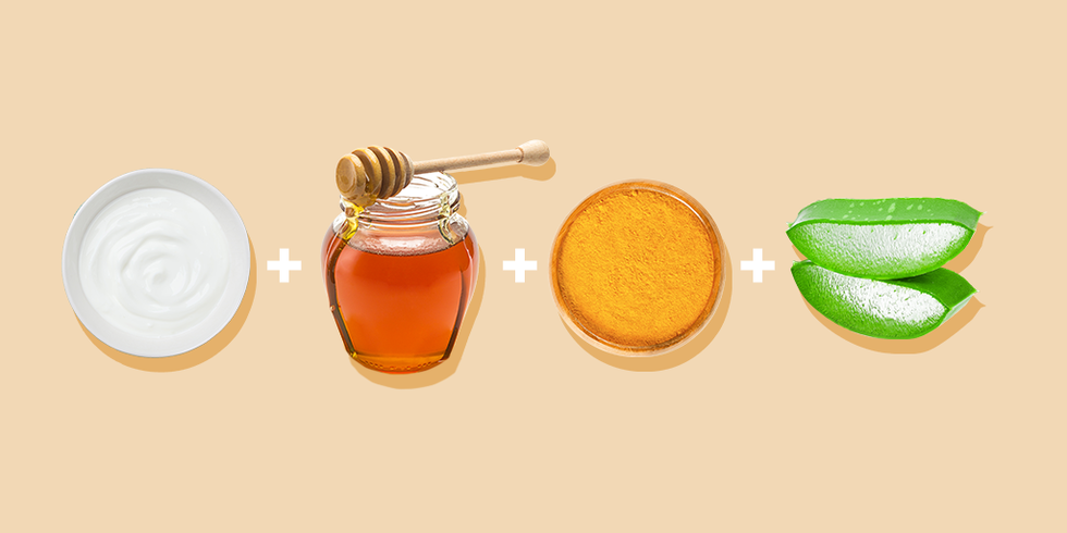 Борьба с угревой сыпью: маска с куркумой, медом, йогуртом и алоэ